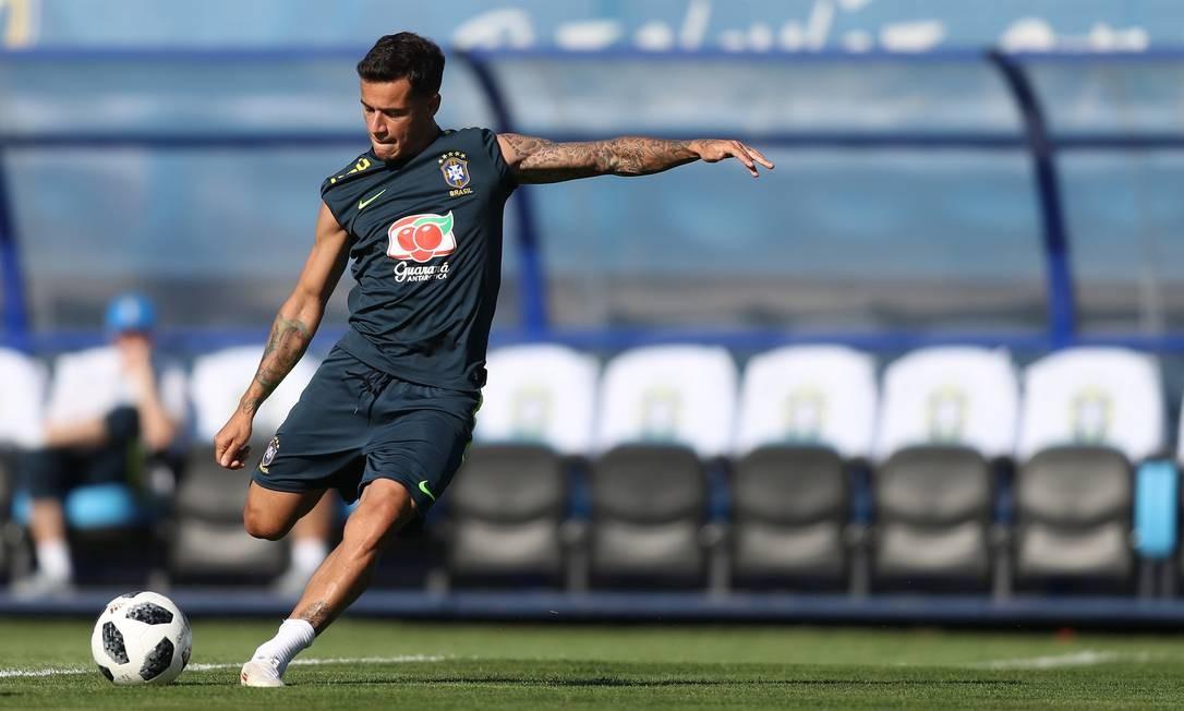 Só os 20 minutos iniciais foram abertos para a imprensa Lucas Figueiredo / CBF