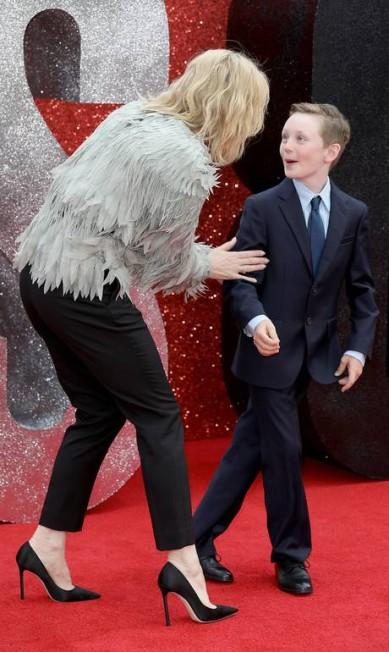 Mãe e filho se divertiram no evento Tim P. Whitby / Tim P. Whitby/Getty Images