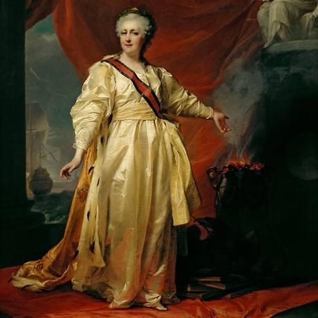 Pintura de 1780 mostra a imperatriz Catarina, a Grande Foto: Divulgação