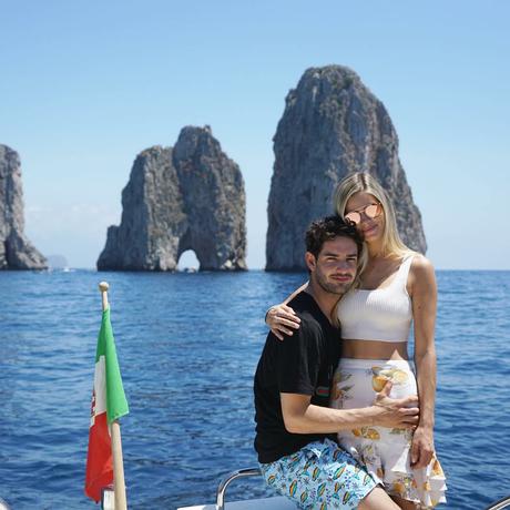Alexandre Pato e Danielle Knudson: dolce far niente na Itália Foto: Reprodução Instagram