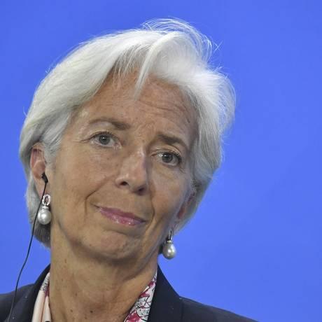 Christine Lagarde, diretora gerente do FMI Foto: JOHN MACDOUGALL / AFP