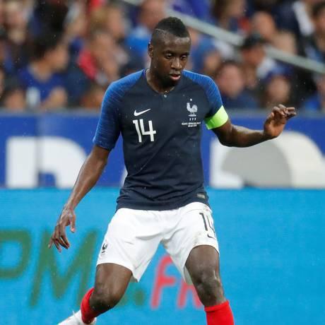 Blaise Matuidi, capitão da França no amistoso contra a Irlanda. Foto: CHARLES PLATIAU / REUTERS