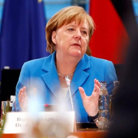 Chanceler federal alemã, Angela Merkel, participa de evento em Berlim Foto: MICHELE TANTUSSI / REUTERS