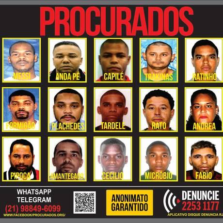 Disque Denúncia divulga cartaz com suspeitos de matar PM Foto: Divulgação