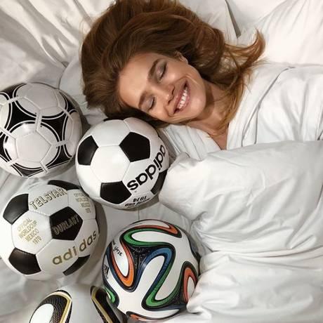 Natalia Vodianova é o ícone fashion da Copa do Mundo da Rússia Foto: Reprodução/ Instagram