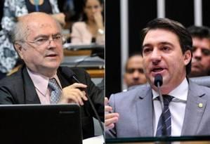 O deputado Giacobo (PR-PR), à direita, e Alfredo Kaefer (PP-PR) Foto: Arquivo