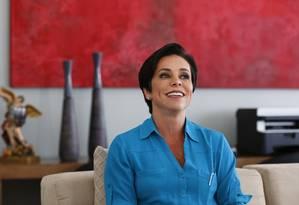 A deputada federal Cristiane Brasil (PTB-RJ), durante entrevista Foto: Michel Filho/Agência O Globo/22-02-2018