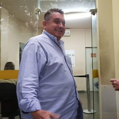 Marcelo Piuí, vereador suplente do PHS, presta depoimento sobre o caso Marielle Foto: Felipe Grinberg / O Globo