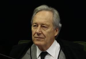 O ministro Ricardo Lewandowski, durante sessão da Segunda Turma do STF Foto: Jorge William/Agência O Globo/08-05-2018