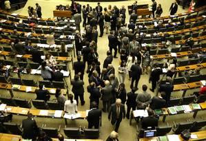 Plenário da Câmara durante sessão Foto: Givaldo Barbosa/Agência O Globo/13-06-2018