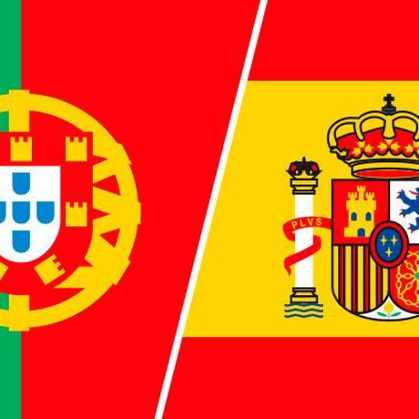 Portugal enfrenta a Espanha Foto: Editoria de Arte
