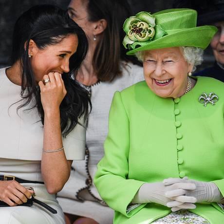 Meghan e Elizabeth: cada vez mais próximas Foto: Jeff J Mitchell / Getty Images
