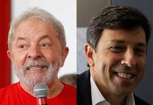 O ex-presidente Luiz Inácio Lula da Silva e o candidato à presidência João Amoedo Foto: Reprodução