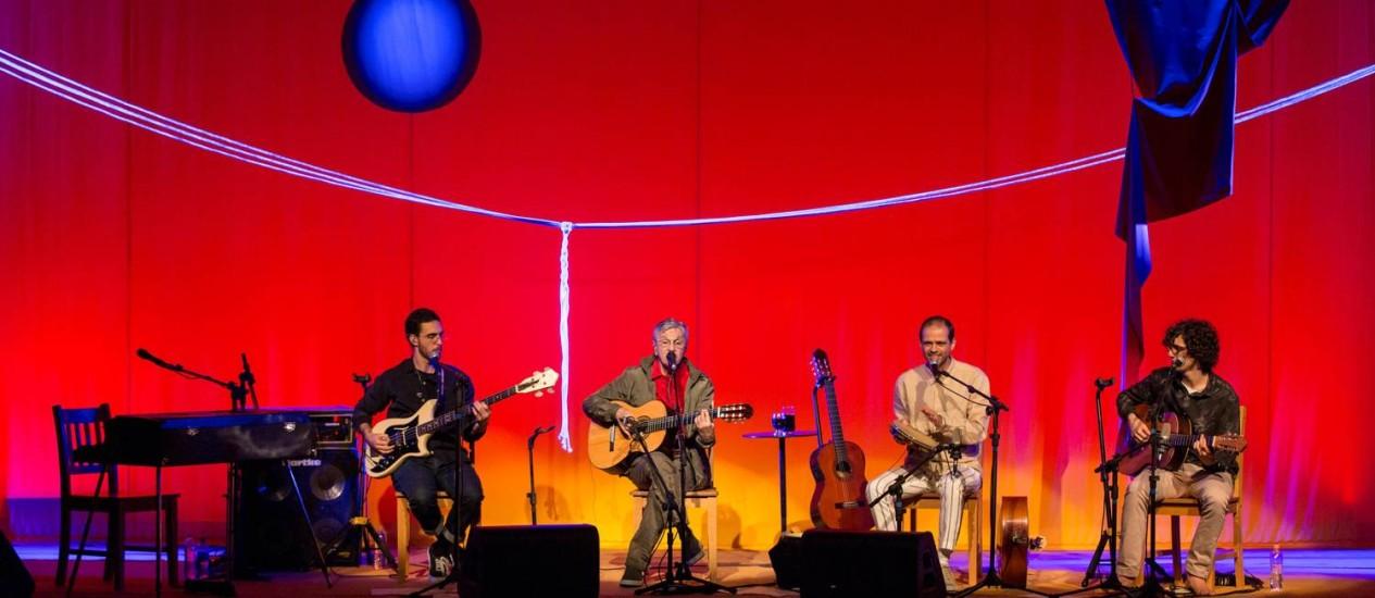 Tom, Caetano, Moreno e Zeca Foto: Divulgação/Ney Coelho