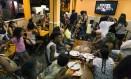 Pizzaria Lit. Encontros acontecem na primeira segunda-feira do mês Foto: Leo Martins / Agência O Globo