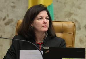 A procuradora-geral da República, Raquel Dodge, durante julgamento de foro privilegiado para parlamentares federais no plenário do STF Foto: Ailton de Freitas / Agência O Globo