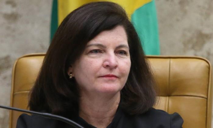 A procuradora-geral da República, Raquel Dodge, durante sessão do Supremo Tribunal Federal Foto: Givaldo Barbosa/Agência O Globo/17-05-2018