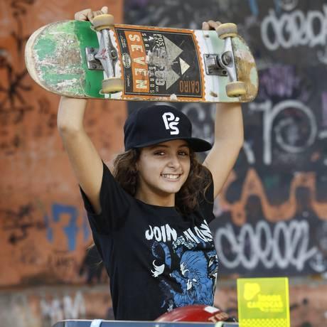 Prodígio. Vivi começou a fazer aulas de skate aos 4 anos de idade e a participar de competições aos 6 anos Foto: Fábio Guimarães / Fábio Guimarães
