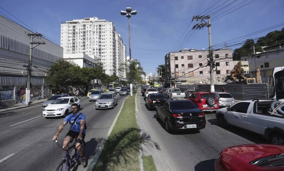Projeto. Marquês do Paraná ganhará duas faixas de rolamento e ciclovia entre as ruas Dr. Celestino e Miguel de Frias Foto: Marcio Alves / Agência O Globo