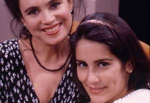 A novela explorava o antagonismo entre a ambiciosa Maria de Fátima (Gloria Pires) e sua mãe, a honesta Raquel Accioli (Regina Duarte) Foto: Arquivo