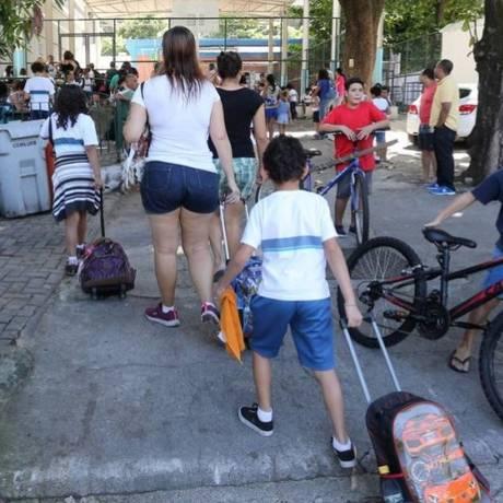 Alunos de escola municipal do Rio de Janeiro Foto: Arquivo O GLOBO