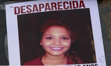 Após uma semana de buscas, corpo de Vitória Gabrielly foi encontrado neste sábado Foto: Reprodução/TV TEM