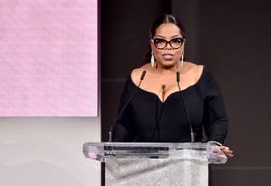 Oprah Winfrey durante o CFDA Fashion Awards, em 4 de junho Foto: Theo Wargo / AFP