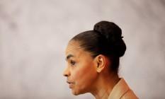 A pré-candidata à Presidência Marina Sillva (Rede), em abril de 2018 Foto: Nacho Doce / Reuters