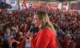 Marília Arraes em ato no Recife a favor do ex-presidente Luiz Inácio Lula da Silva Foto: Reprodução / Divulgação