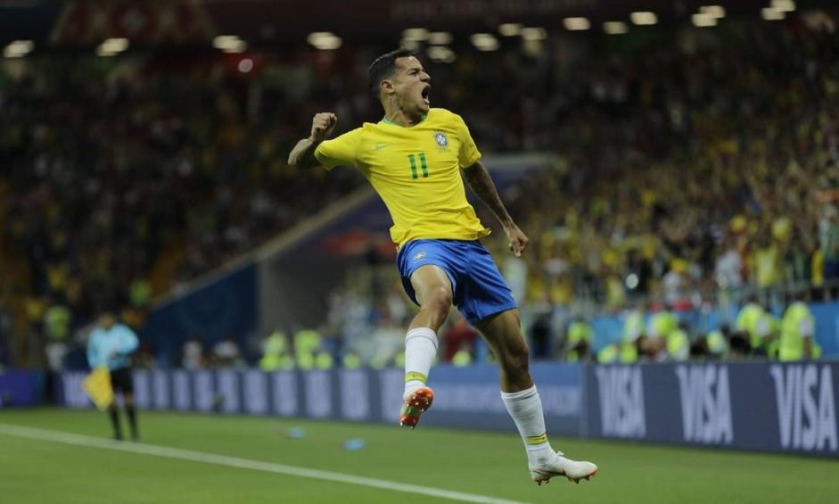 Philippe Coutinho abriu o placar antes dos 20 minutos do primeiro tempo. Foto: Alexandre Cassiano / Agência O Globo