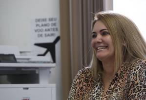 Ex-mulher de Jair Bolsonaro, Ana Cristina Valle prepara a sua campanha para disputar uma vaga na Câmara dos Deputados Foto: Custódio Coimbra / Agência O Globo