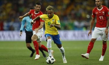 Jogo entre Brasil x Suiça na Arena Rostov termina em empate Foto: Alexandre Cassiano / Agência O Globo