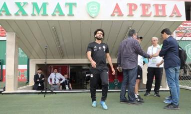 Salah deve fazer sua estreia contra a Russia Foto: KARIM JAAFAR / AFP