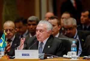 O presidente Michel Temer particupa de cúpula do Mercosul, no Paraguai Foto: Cesar Itibere / Cesar Itiberê/PR