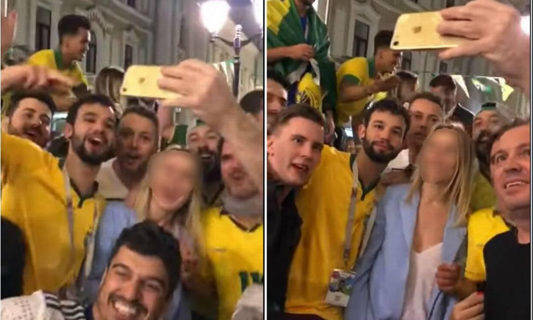 Torcedores brasileiros protagonizam vídeo machista, misógino e racista Foto: Reprodução/internet