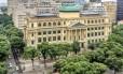A fachada da Biblioteca Nacional após os oito anos de reforma Foto: Divulgação