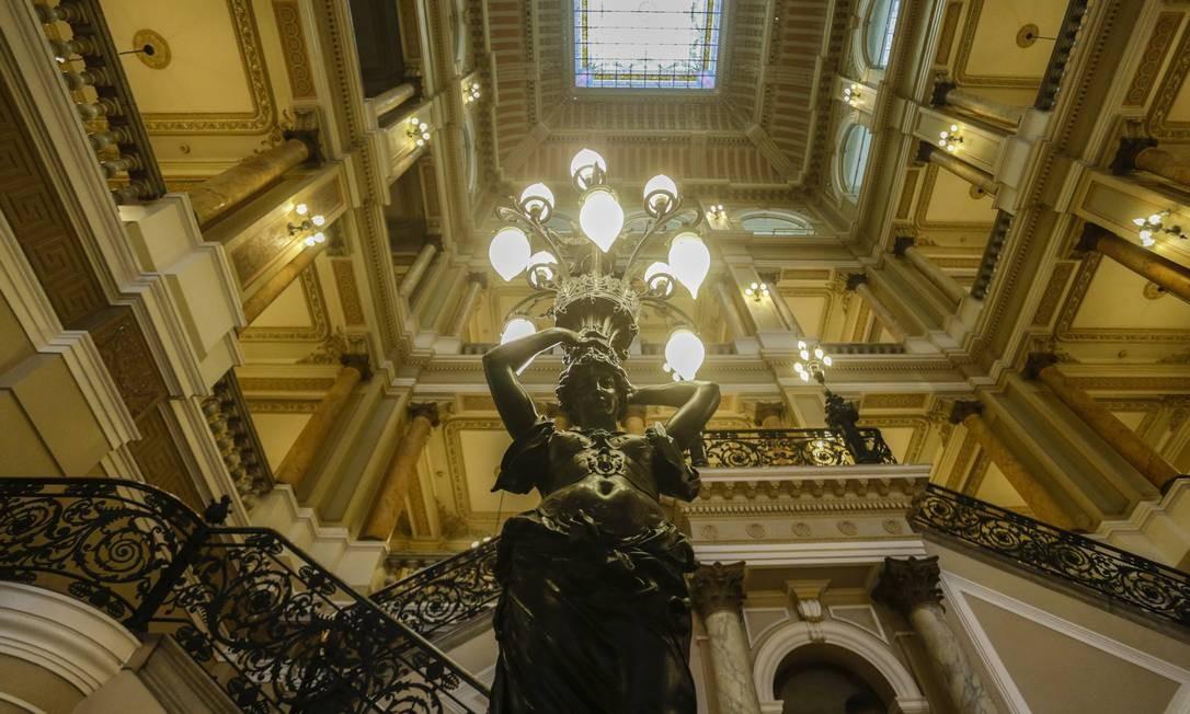 Inaugurado em 1910, prédio é o terceiro da cidade a abrigar a Biblioteca Nacional Foto: Gabriel de Paiva / Agência O Globo
