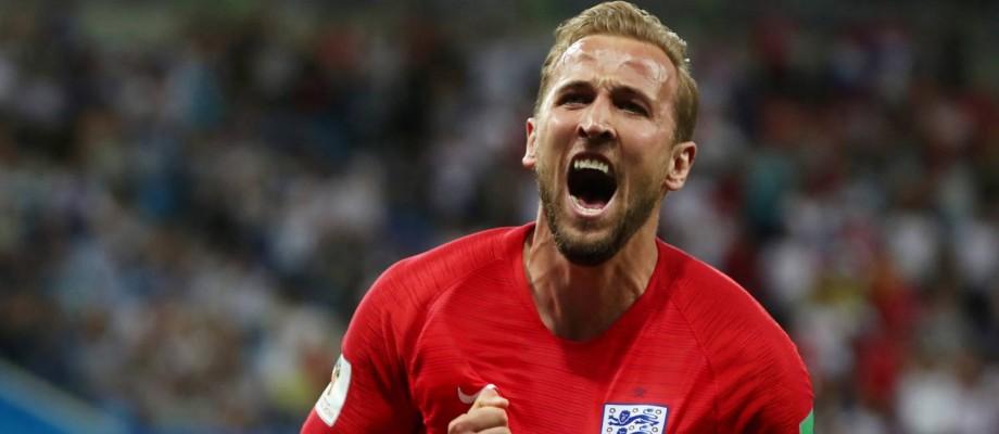 Harry Kane comemora gol contra Tunísia Foto: SERGIO PEREZ / REUTERS