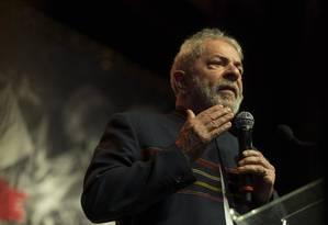 O ex-presidente Lula participa de evento com artistas no Rio de Janeiro Foto: Guito Moreto/Agência O Globo/16-01-2018