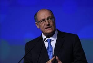 O pré-candidato do PSDB, Geraldo Alckmin Foto: Edilson Dantas / Agência O Globo