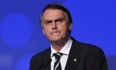 Jair Bolsonaro, pré-candidato à presidência pelo PSL, em evento em São Paulo Foto: Edilson Dantas / Agência O Globo