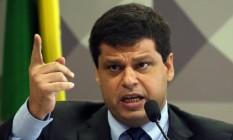 O ex-procurador Marcelol Miller durante depoimento na CPMI da JBS Foto: Givaldo Barbosa/Agência O Globo/29-11-2017