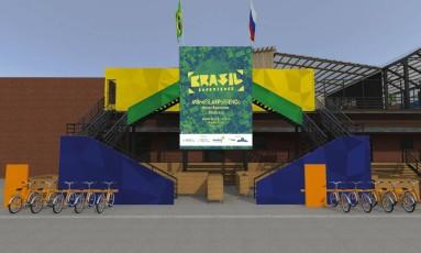 Projeto da Casa do Brasil na Rússia/Brasil Experience Foto: Divulgação