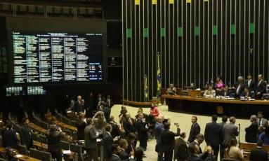 Plenário da Câmara dos Deputados Foto: Agência O Globo / Ailton de Freitas