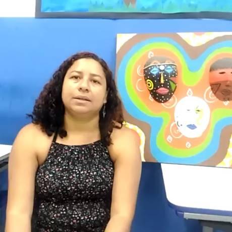 Sabrina Luz é professora em Macaé Foto: Reprodução