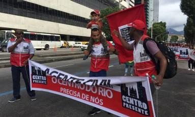 Agentes fazem manifestação contra o fim do Centro Presente Foto: Divulgação