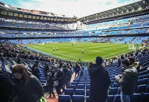 Estádio Santiago Bernabéu, em Madri Foto: Arquivo O Globo