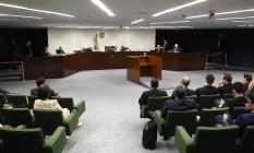 A Segunda Turma do Supremo Tribunal Federal (STF) julga a senadora Gleisi Hoffmann Foto: Jorge William / Agência O Globo