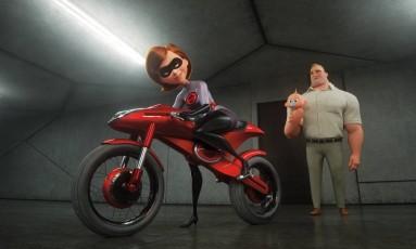 Cena de 'Os incríveis 2', que estreia no dia 28 no Brasil Foto: Pixar / Divulgação
