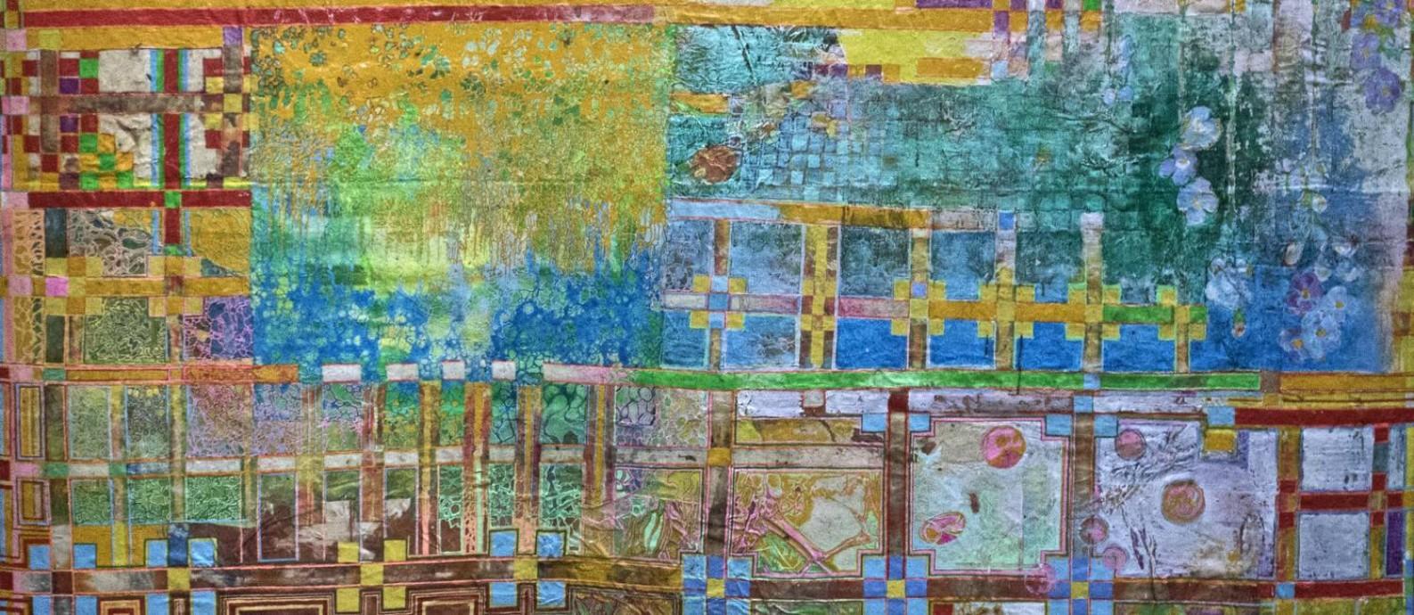 'Jardim inventário': uma das 'telas cultivadas' que o artista desenvolve em seu ateliê Foto: Divulgação